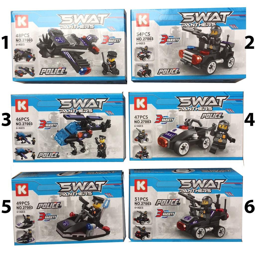 Xếp hình Lego Swat 6 trong 1 (có 6 mẫu )