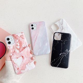Ốp điện thoại mềm nhám vân đá cẩm thạch cho IPhone 11 Pro Max 678 Plus Xs Xr SE2