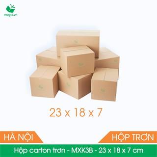 MXK3B - 23x18x7 cm - 50 Thùng hộp carton trơn đóng hàng - hình 3