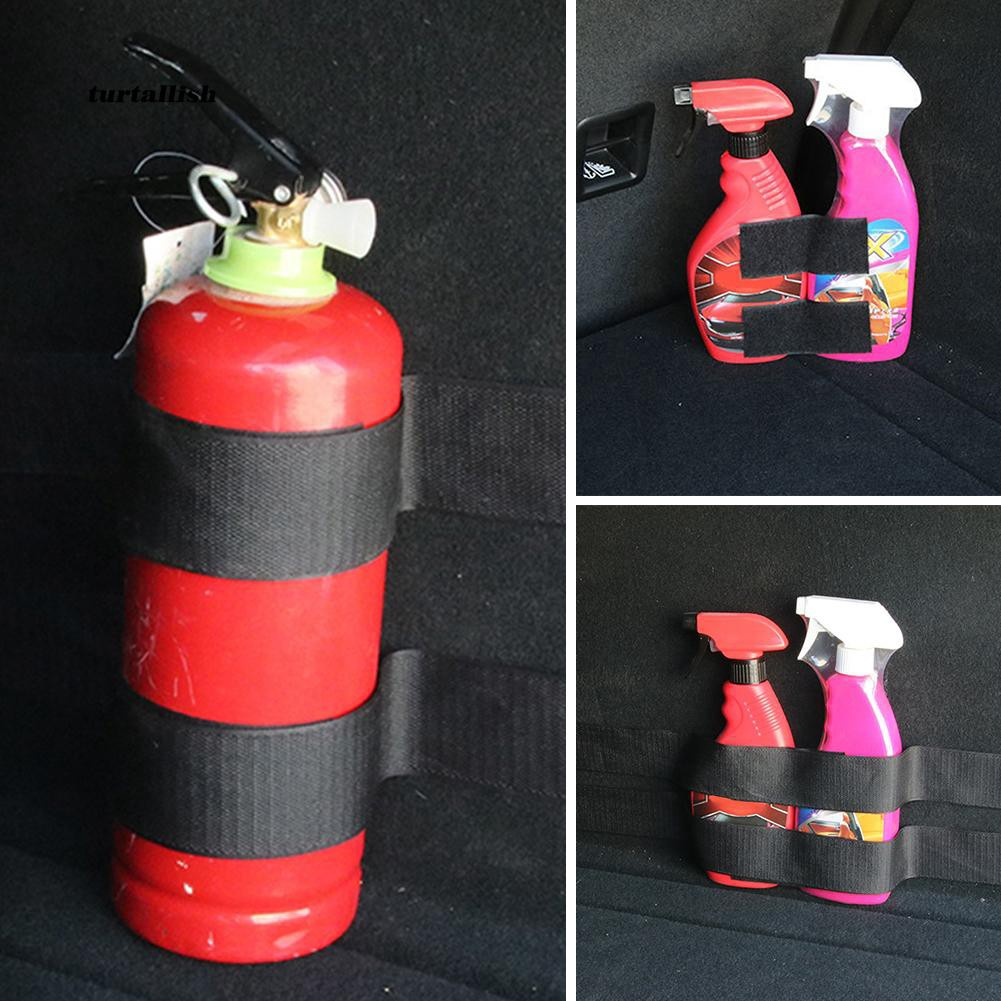 TUR♥Car Auto Belt Stowing Tidying Strap Fire Extinguisher Bracket Sticker Fixing Tape