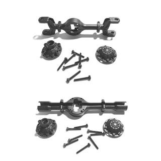 Bộ vỏ cầu kim loại lắp cho xe RC WPL 4×4 tỉ lệ 1:16 (Màu đen)