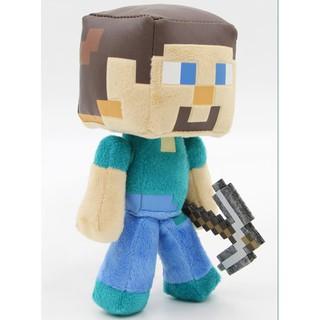Nhồi bông Minecraft Steve cầm cup 15 cm
