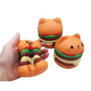 Squishy toy hamburger