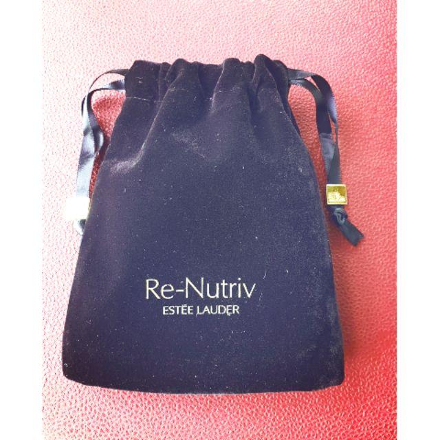 Túi rút dây nhung Estee Lauder RE-Nutriv cao 13cm ngang 10cm