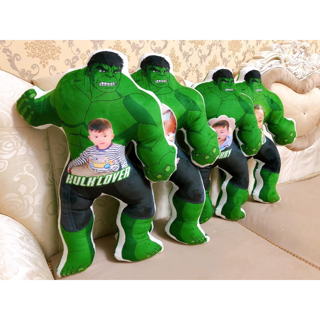 Người khổng lồ xanh The Hulk nhồi bông in ảnh