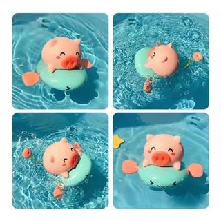 [XẢ KHO+FREE SHIP] Đồ chơi nhà tắm Lợn con chèo thuyền phun nước chú lợn nước đi bơi