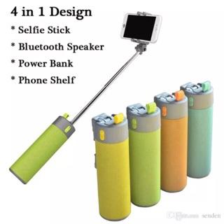 [CỰC HOT] Gậy Selfie tích hợp 4 trong 1: loa Bluetooth, Sạc dự phòng, Gía đỡ điện thoại và Đèn pin