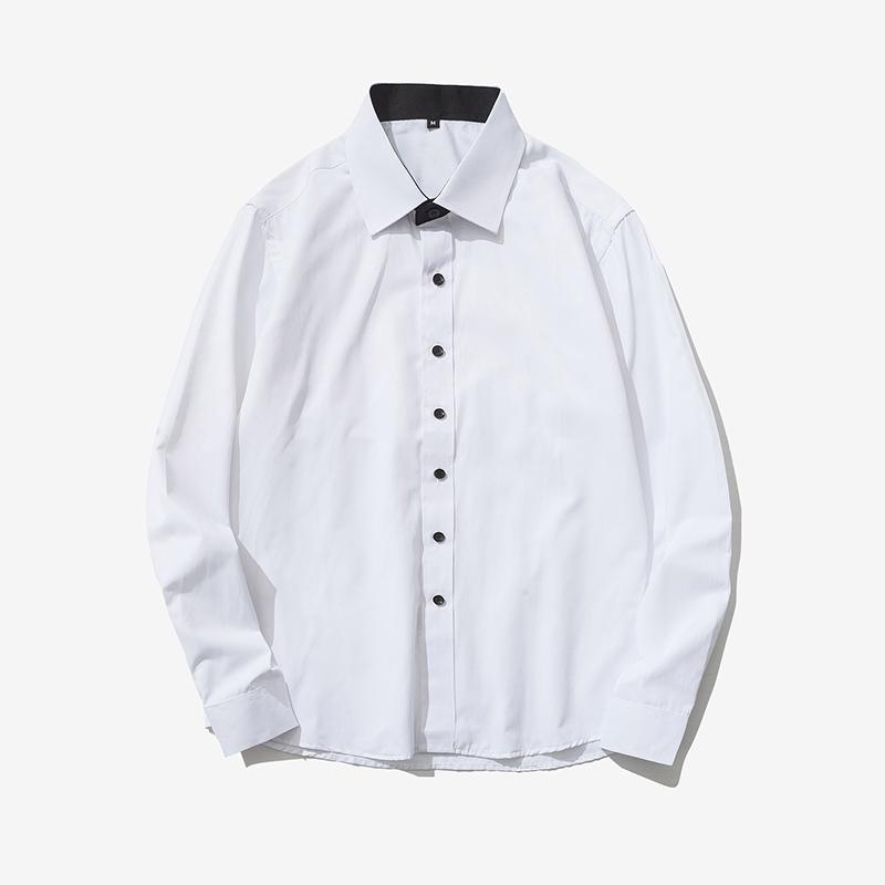 เสื้อเชิ้ตสีพื้น สไตล์เกาหลี ราคาถูก รุ่น BDC.5413 เสื้อผ้าแฟชั่นผู้ชาย เสื้อเชิ้ต เสื้อเชิ้ตสีพื้น