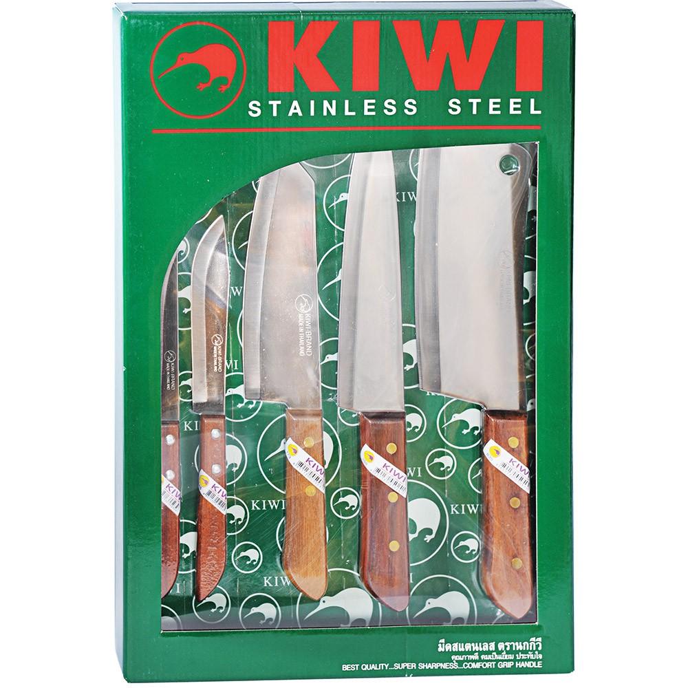 Bộ 5 dao Kiwi cán gỗ W5W