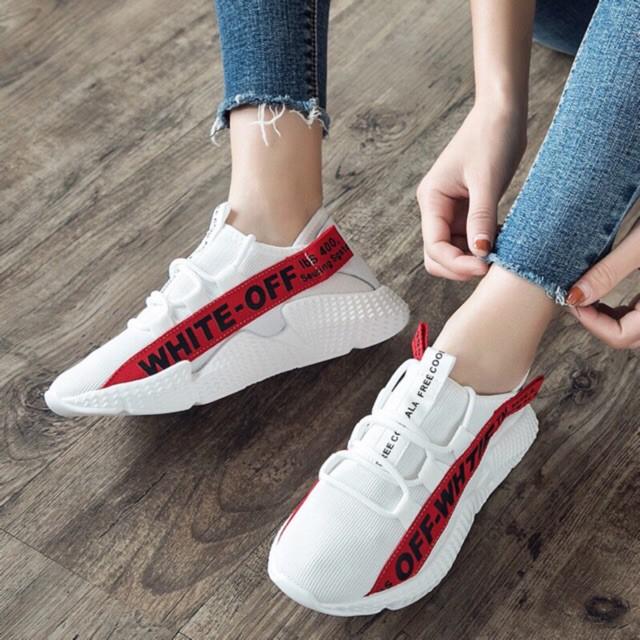 Giày thể thao Vải chữ mới(