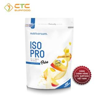 WHEY ISO PRO NUTRIVERSUM_ 88% WHEY ISOLATE + ENZYME CHUYỂN HÓA_5 HƯƠNG VỊ HẤP DẪN_ 1000G/40 LẦN DÙNG
