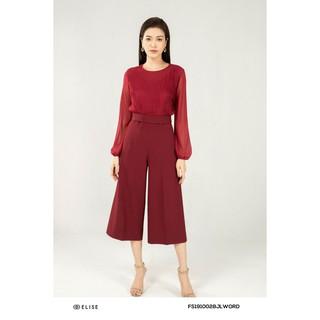 Jumpsuit đỏ chun tay thiết kế Elise thumbnail