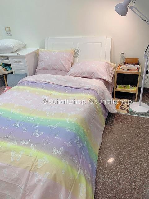 COTTON Aesthetic Butterflies -  bộ vỏ chăn ga giường