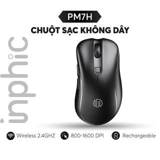 Chuột Sạc Không Dây INPHIC PM7H 2.4G 800-1200-1600 DPI Dùng Cho Máy Tính PC Laptop,... - Chính Hãng thumbnail