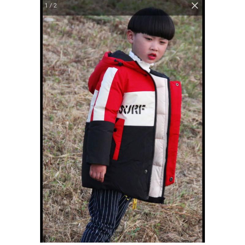 Áo phao dày hàng nội địa Trung cho trẻ 150 cm, 20kg