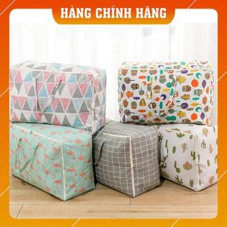(Hàng Loại 1) Túi đựng quần áo chăn màn vải canvas không thấm nước, giỏ đựng đồ đa năng cỡ siêu to