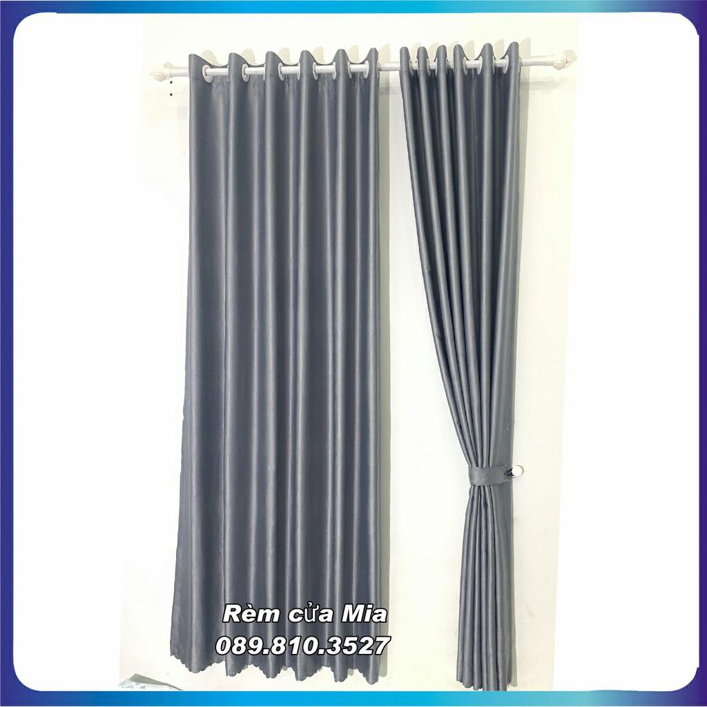 Rèm cửa màu xám lông chuột, kích thước tùy chọn, dùng làm rèm cửa chính, rèm cửa sổ hn curtains