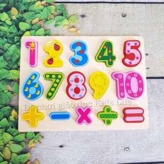 Bảng số từ 1-10 và phép tính loại số to ( bảng chữ nhật )