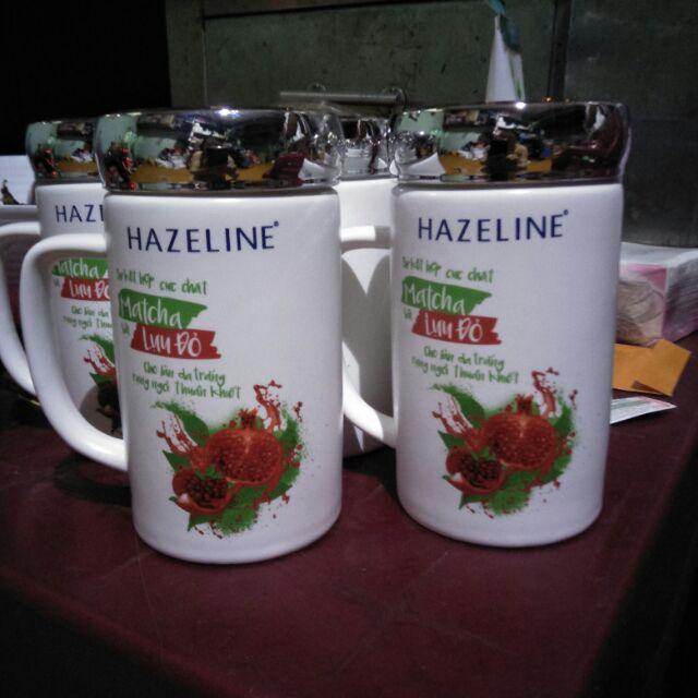 Ly sứ giữ nhiệt 400ml quà tặng từ sữa tắm Hazeline.