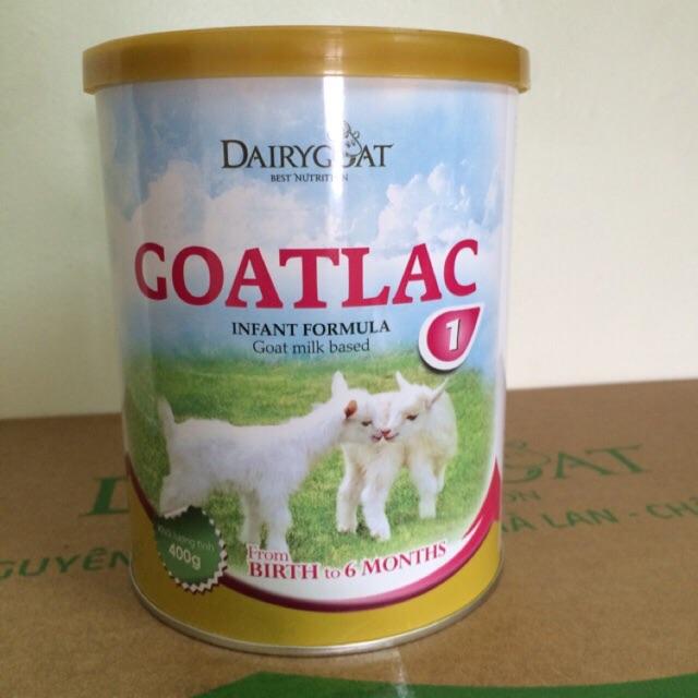 Sữa dê Goatlac 1 hộp 400g (cho trẻ từ 0-6 tháng)