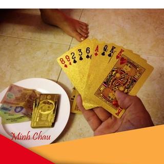 Bộ Bài Mạ Vàng 24K Cao Cấp (Vàng) Ms-45 giá rẻ [Đổi Trả 7 Ngày]