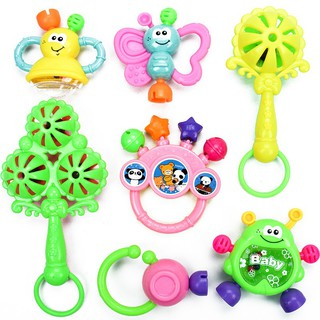 【Ready stock】7PCS Newborn baby rattles toys for 0-12 months baby