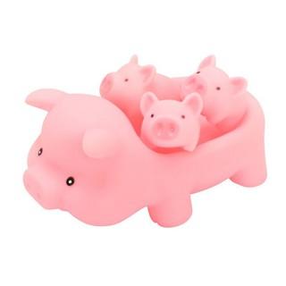 💕Pentagon💕💕Pentagon 4pcs/set Baby Cute Cartoon Animals Pink Pigs Sound Soft Rubber Funny Toy