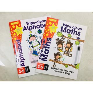 Sách Wipe Clean Maths + Alphabet - Dành cho trẻ từ 3 - 6 tuổi (Combo 2 cuốn ) thumbnail