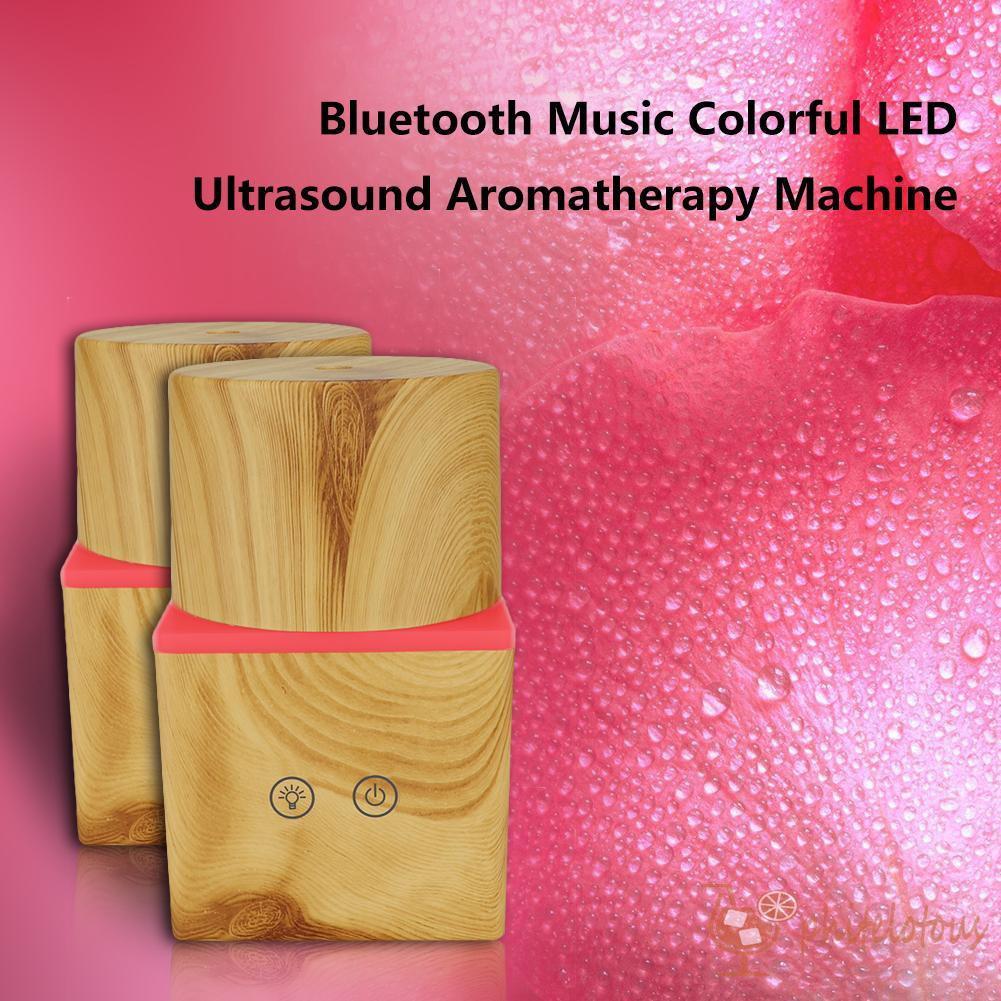 ρ Best 200ml Round and Square Ultrasonic Essential Oil Humidifier Bluetooth Speaker