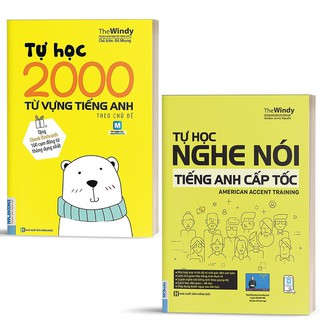 Sách - Combo Tự Học Nghe Nói Tiếng Anh Cấp Tốc và 2000 Từ Vựng Tiếng Anh Theo Chủ Đề - Học Kèm App Online thumbnail