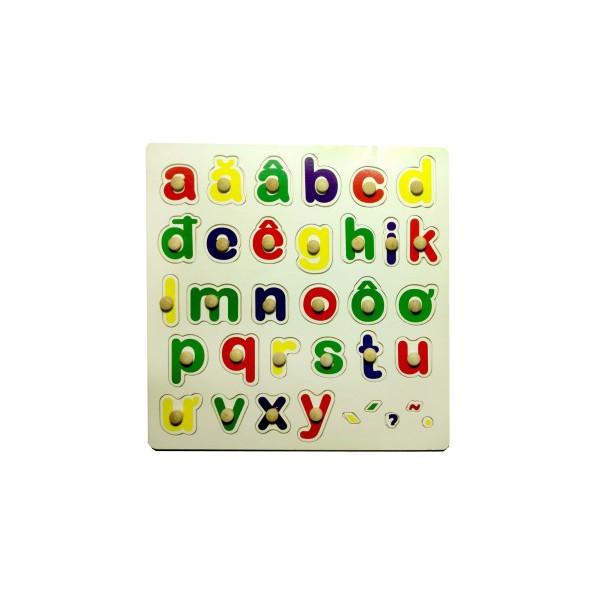 Bảng chữ cái tiếng việt có núm (30x30cm)