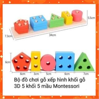 Đồ chơi thông minh Montessori hình học màu sắc