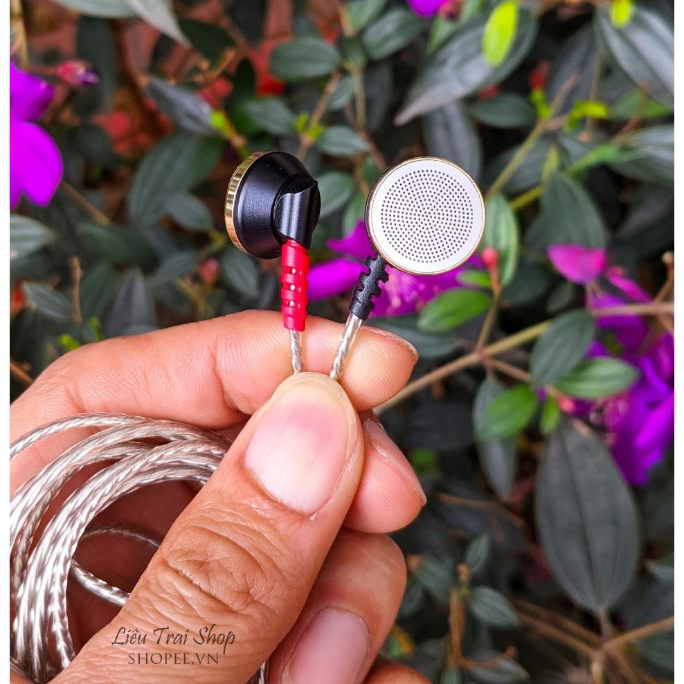 Tai nghe tự làm DIY earbud màng graphene nam châm rubidium cân bằng 3 dải  driver 14.2mm - Tai nghe Bluetooth chụp tai On-ear Nhãn hàng No Brand