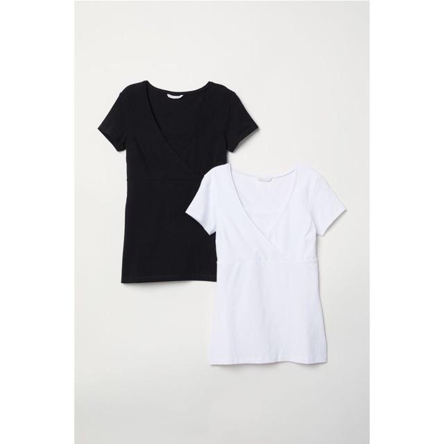 Áo cho bé bú hàng H&M organic cotton