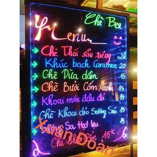 [RẺ VÔ ĐỊCH] BẢNG ĐÈN LED VIẾT TAY DẠ QUANG💓 KT 60 x 80cm + Hộp bút (8 màu khác nhau)