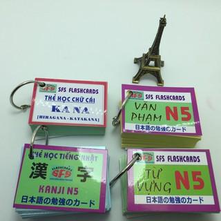 Bộ thẻ học tiếng nhật N5 (4 xấp có kana) thumbnail
