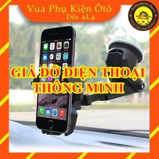 Giá đỡ điện thoại trên ô tô- Kẹp điện thoại oto thông minh, hút chân không