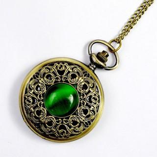 Đồng hồ quả quýt chạm khắc họa tiết bỏ túi có dây cho nam & nữ