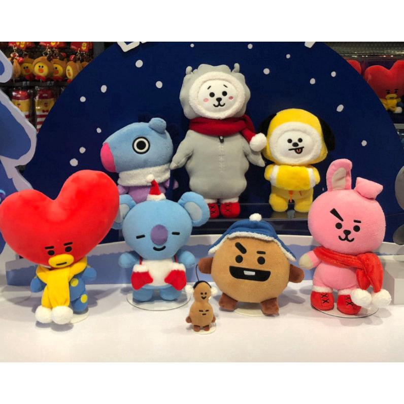 BTS ARMY BT21 Peripheral Toys Super Soft Animal Plush Doll (18-30cm)