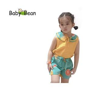 Đồ Bộ Đũi Tơ cổ Sen thắt Nơ bé gái BabyBean (20kg-40kg) thumbnail