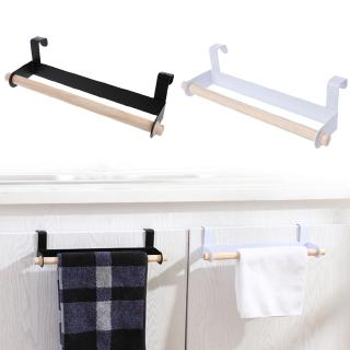 Home Improvement Bathroom Fixtures Popular Brand Wholesale Kitchen Towel Holder Roll Paper Storage Rack Tissue Hanger Under Cabinet Door Drop Shipping #20