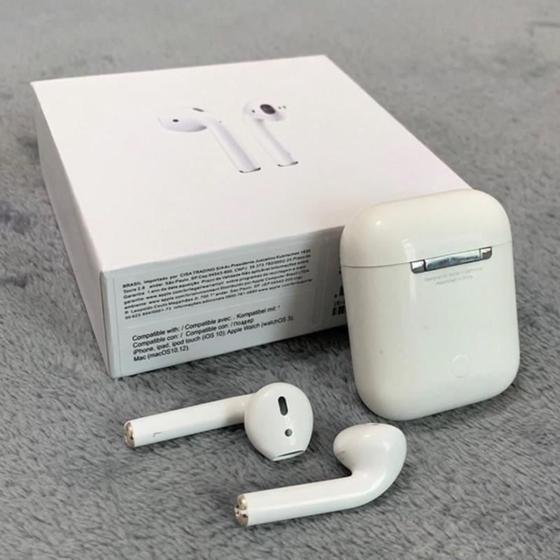 Tai nghe Airpod Thế Hệ 2 Bluetooth 5.0 Sạc Không dây Định Vị Cao Cấp TWS Combo Case Airpods 2 i12 - Lala17