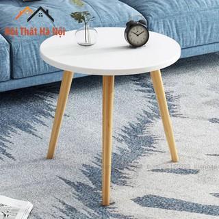[𝗛𝗢𝗧 𝗦𝗔𝗟𝗘]Bàn trà tròn chân gỗ tự nhiên phong cách vintage, có thể làm bàn trà bệt hoặc bàn sofa (full phụ kiện đi kèm )