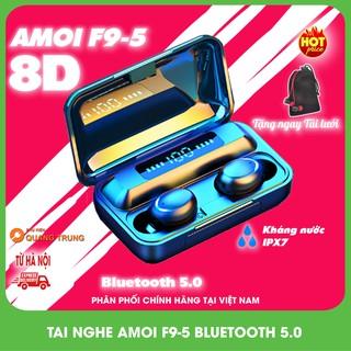 Tai nghe Amoi F9 pro 2021,bluetooth 5.0,kháng nước ipx7,pin dock sạc 2000 mAh  Phiên bản quốc tế  Tặng túi lưới