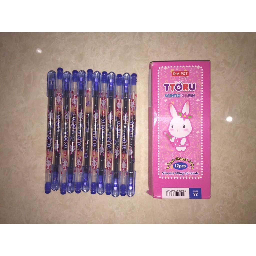 Hộp 12 cây bút mực nước Ttoru, bút thơm 0.4mm Dong A-Hàn Quốc chính hãng