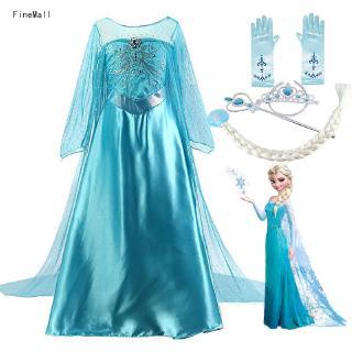 Đầm công chúa Elsa hóa trang cho bé gái 2-10 tuổi