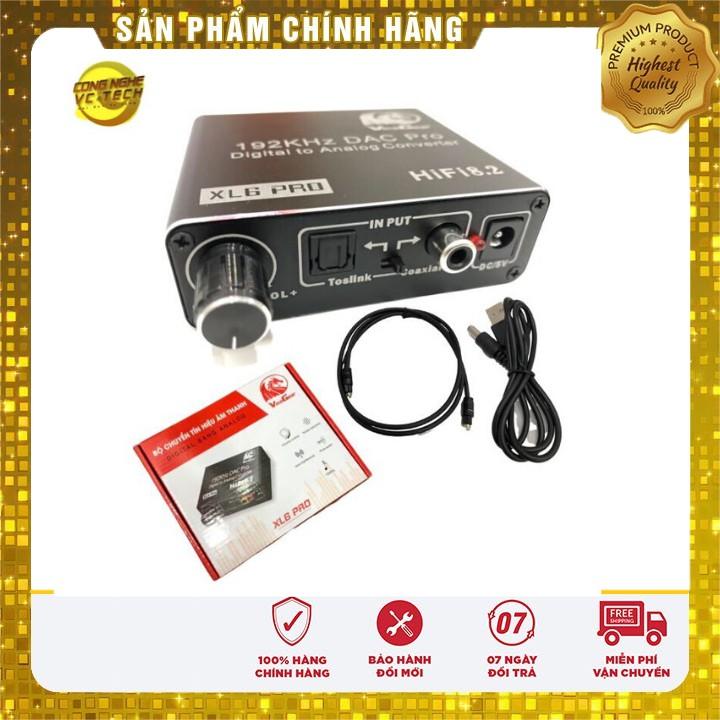 Bộ Chuyển Đổi Âm Thanh Quang Vinagear XL6 PRO - Digital to Analog DAC Mixer 2019 , kèm dây quang 4mm