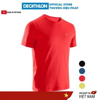 Áo thun thể thao nam KALENJI run dry chuyên chạy bộ, nhanh khô - đỏ thumbnail