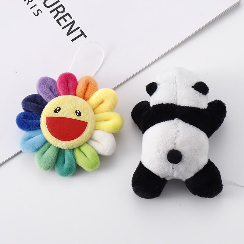 ⊙✉Lovely panda plush brooch with brilliance yu yi-bo wang badge sunflower pendant accessories female pins