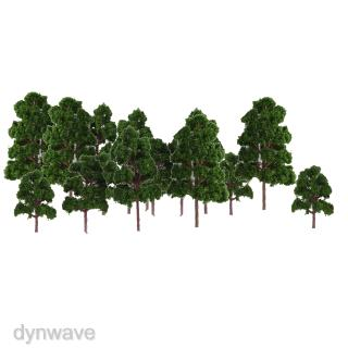 20pcs Model Trees Layout Train Railway Diorama Wargame Landscape Scenery
